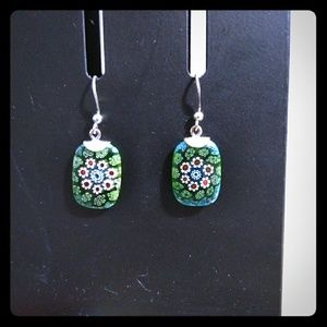 Cute blue/green earrings